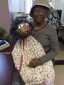 Ethel with her finished puppet